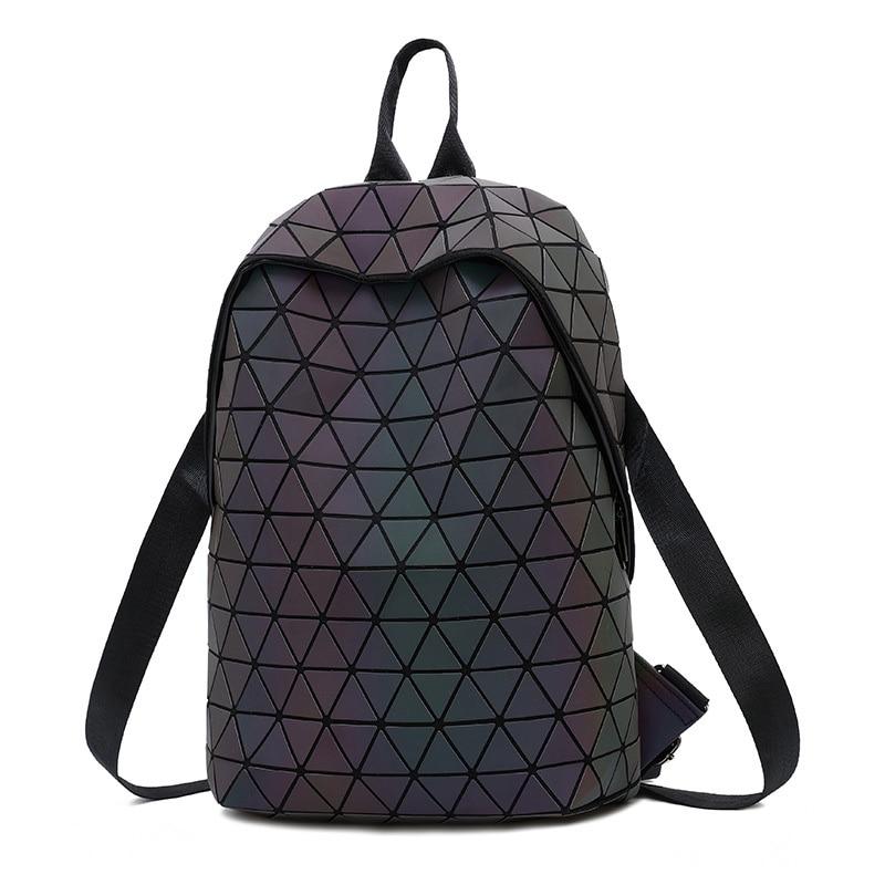 2019 Bao Bag Drawstring Backpacks Women Geometric Luminous Backpack For Girls School Bag Noctilucent holographic Female Backpack2019 Bao Bag Drawstring Backpacks Women Geometric Luminous Backpack For Girls School Bag Noctilucent holographic Female Backpack