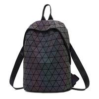 2019 Bao Bag Drawstring Backpacks Women Geometric Luminous Backpack For Girls School Bag Noctilucent holographic Female Backpack