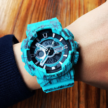 Sanda Luxury Brand Fashion Super Cool Men's Quartz Led Digital Analog Watch Men Sports Watches Military Waterproof Wristwatches