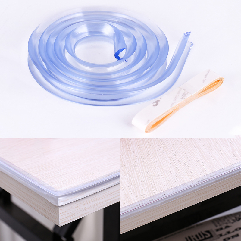 1M Baby Table Protector For Furniture Corner Guards Soft Silicone Cover For Furniture Wall Edge Bumper Strip Corner Protector
