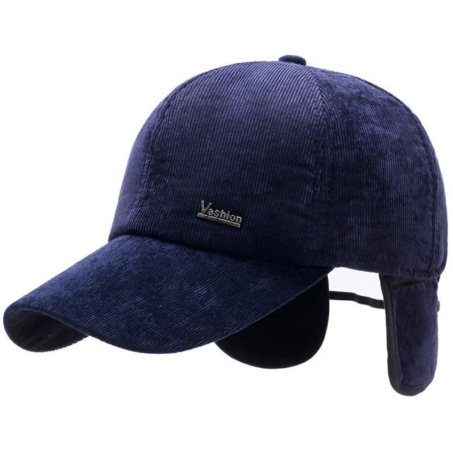 HT1843 New Autumn Winter Hats for Men Corduroy Thick Men Baseball Caps  Adjustable Male Warm Snapback d0f3dc988b2a