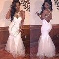 Sexy Branco Longo Vestido de Baile 2016 Halter Backless Da Sereia de Ouro Rhinestone Prom Dresses Vestidos Party Girls Sexy Vestido do baile de Finalistas RM48