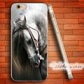 Fundas blanco caballo retrato suave claro tpu case para iphone 7 6 6 s plus 4S 5S sí 5 5c 4 plus case delgado ultra fino de silicona cubierta.
