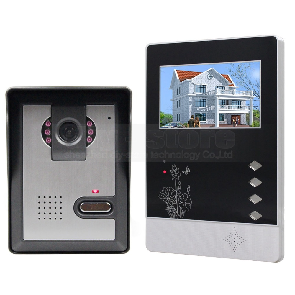 ФОТО DIYSECUR Video Intercom 4.3 inch TFT Color LCD Display Aluminum Alloy Camera Video Door Phone Doorbell