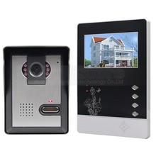 DIYSECUR Videoportero 4.3 pulgadas TFT Pantalla a Color LCD de Aleación de Aluminio de Cámara Video de la Puerta Del Timbre Del Teléfono
