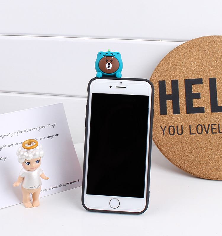 3D Cute Lovely Bear Case For Xiaomi Redmi S2 3S 4A 4X 5 5A 5 Plus 6 Pro 6A Y2 Cartoon Crocodile Pig Case Funda Coque