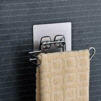 Rolki ze stali nierdzewnej półka z przyssawką naścienny uchwyt na ręczniki uchwyt na papier toaletowy łazienka półka kuchenna do przechowywania Rack w Półki i stojaki od Dom i ogród na