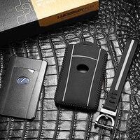 luckeasy for LEXUS LX 570 2013/2016 LS 2010 600hl Case Remote Keys Shell leather 2016 rc key cover key2y