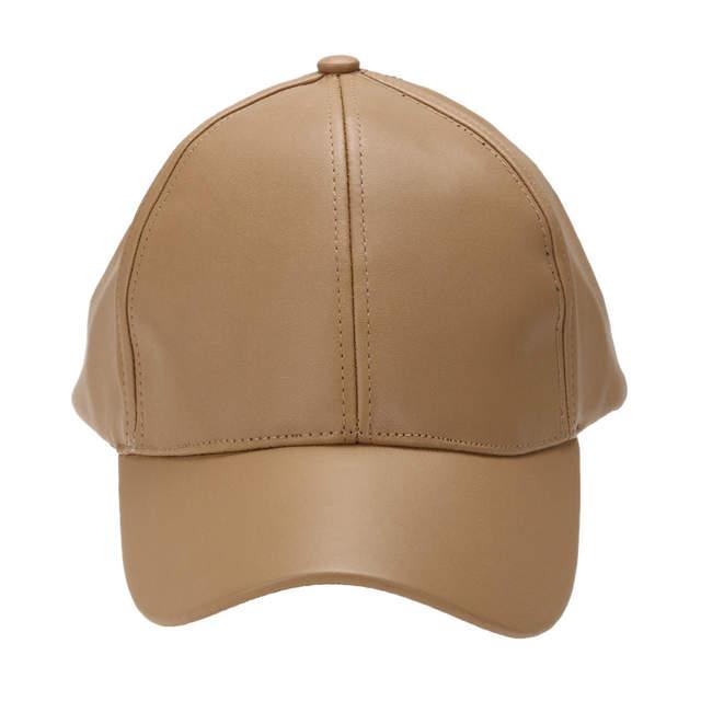 bff93b59796 Unisex Men Women PU Leather Baseball Cap Snapback Outdoor Sport Adjustable  Fashionable Hat Red khaki