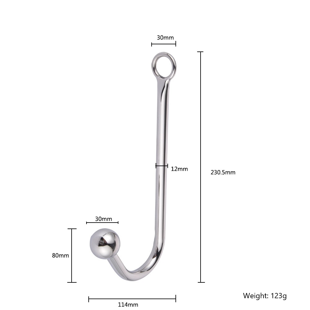 Yuechao Stainless Steel Anal Hook With Anal Beads Hole -6674