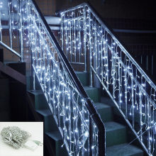 Waterproof Beautiful Eye-Catcher LED Ice Storm Christmas Lights Christmas Lights Icicle Outdoor Lights Chain Drop Shipping(China)