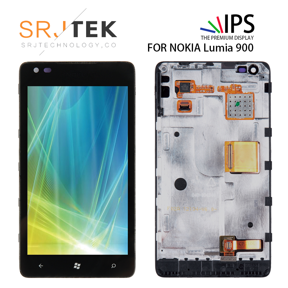 Srjtek 4.3 LCD For Nokia lumia 900 LCD Touch Screen with Frame Digitizer Assembly Replacement Parts N900 900 Display  800*480Srjtek 4.3 LCD For Nokia lumia 900 LCD Touch Screen with Frame Digitizer Assembly Replacement Parts N900 900 Display  800*480