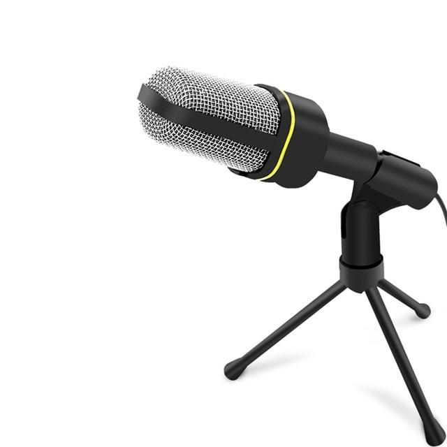 Портативный Компьютер Микрофон Стенд Студийный Конденсаторный Микрофон 2 м Проводной Клип Ретро Мини Портативный Настольный Микрофон для ПК HT035