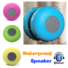 Portable Wireless Bluetooth Shower Waterproof Speaker Suction Cup In-car Mini Mp3 Built-in Mic Handsfree Receiver  for Cellphone