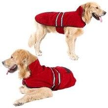 NEW CLOTHES Dog Down Parkas Red Casual Reflective Fleece Warm Pet Cotton Coat Winter Puppy Suede Waterproof Jacket Pooch