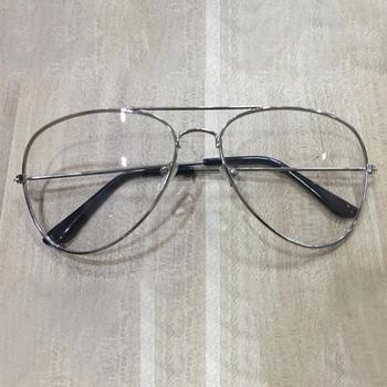 2018 Unisex Big Round Gold Metal Frame Glasses Oversize Clear lens Vintage Retro Chic Eye Elegant Women Men Glasses