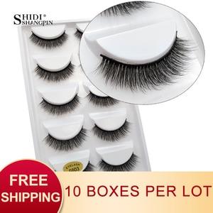Image 1 - SHIDISHANGPIN 50 pairs natural long false eyelashes fluffy 3d mink lashes make up 100% cruelty free fake eyelash faux cils G803