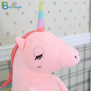 Image 5 - 1pc 60 160cm Kawaii Rainbow Unicorn Plush Toys Stuffed Animal Horse Plush Doll for Children Kids Appease Toy Gift for Girls