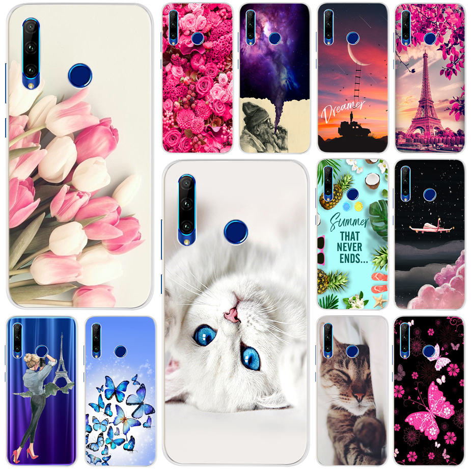 Soft Silicone Case For Huawei Honor 10i 20i Case 6.21'' Bumper On Honor 10i 20 I Cases For Huawei Honor 10i HRY-LX1T Back Cover