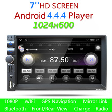 "7 ""2Din Android 4.4 ROM 16G RAM 1G HD 1080 P Del Coche Auto GPS Radio MP3 Reproductor de Audio Bluetooth Incorporado GPS Radio Stereo Audio jugador"