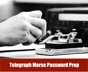 Sala de escapar Adereços Telégrafo Morse Senha Prop Bater algumas vezes (1-80 vezes tudo ok) para desbloquear 12 v LOS Bloqueio para a Sala de Saída Proprietário