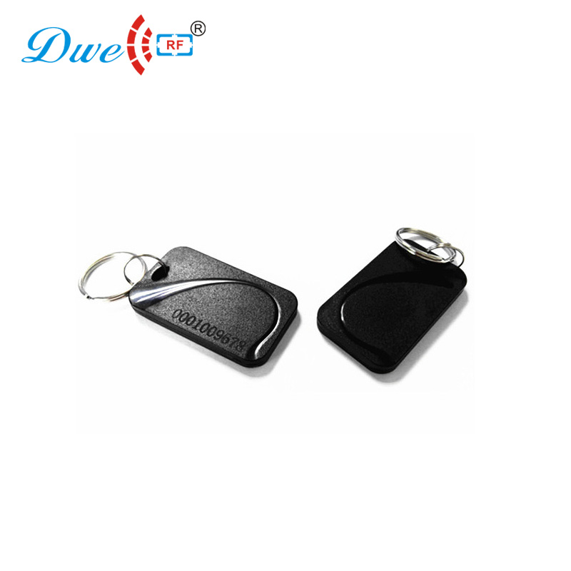 DWE CC RF access control card ABS waterproof metal chain contactless plastic token tag for door enter