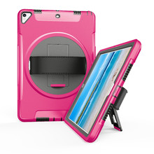 Case for iPad Pro 10.5 Model A1701 A1709 Shockproof Armor Soft TPU+Hard PC Protective Cover Kickstand Hand Strap FTL01