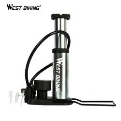 WEST BIKING сверхлегкий MTB велосипеда насос Портативный насос с Давление датчик бомба-де-ar bicicleta 120 Psi высокого Давление велосипедные насосы