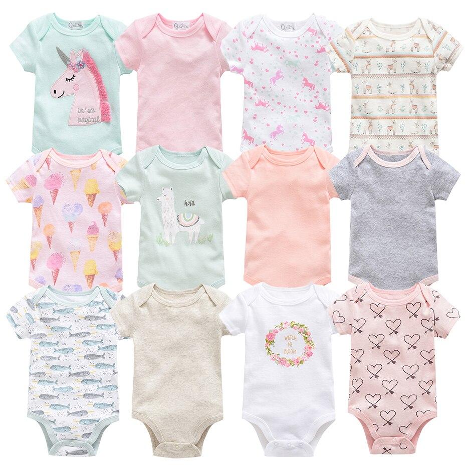 2020 6Pcs 3Pcs Summer New Baby Girl Bodysuits Cute Cartoon Newborn Baby Boy Jumpsuit Overall Christmas Infant Girl Bebe Coverall
