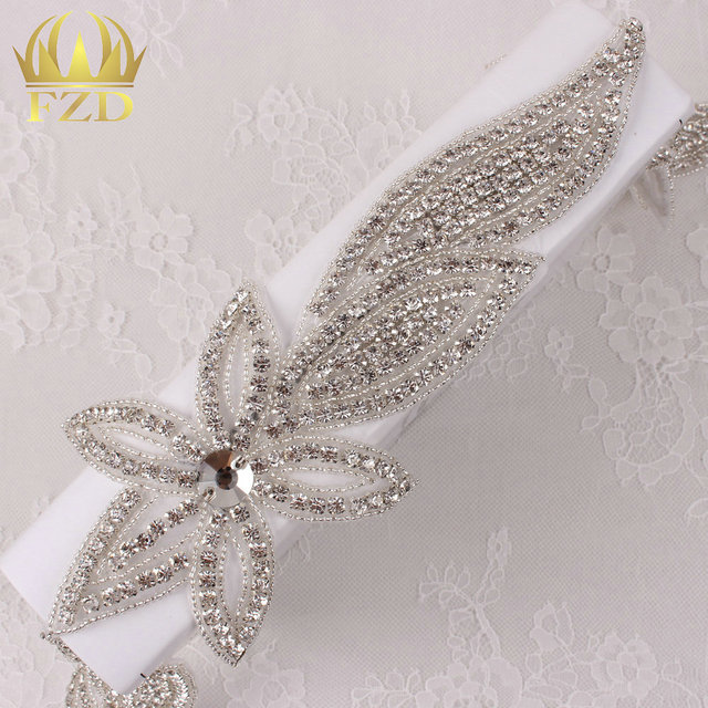 (10yards)Wholesale 1 Yard Iron On Sewing Hot Fix Handmade Beaded Bridal  Rhinestone Applique Trimming for Wedding Dresses Belt 12645a978ff5