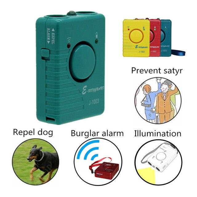 Repelente ultrasónico de perros, entrenador de Control antiladridos, recargable, para dejar de ladrar, disuasorio con linterna LED, modo de alarma