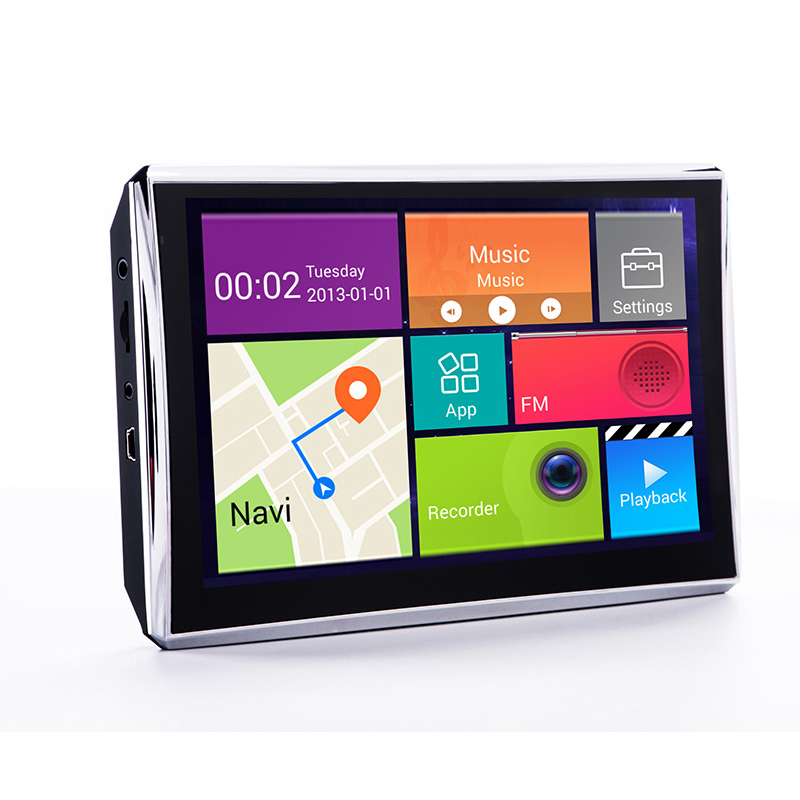 7inch HD Touch Screen Car Portable GPS Navigator 512MB/8G MP3 Car with Free Map FM AV-in WIFI Dash cam