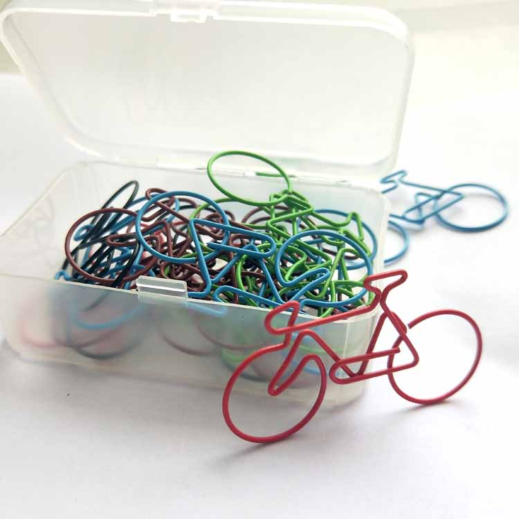 New Bicycle Clips Color Pins Large Pins Customized Office Accessories Accesorios Oficina Paper Bookmark Paper Clip Paperclips