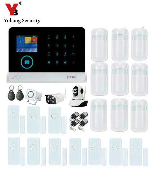 Yobang Security Wifi IP Camera Security Camera Wireless GSM Alarm System WIFI APP Control Alarm Mini Door Gap/PIR Motion Alarm yobang security wifi gsm home security alarm system with ip camera digital alarm with wireless intelligent pir motion wifi alarm