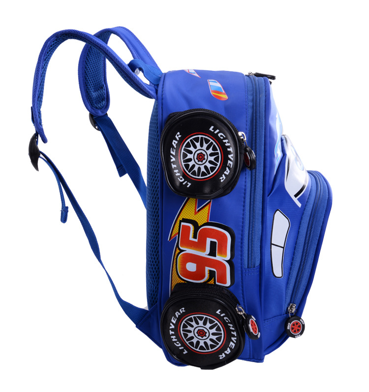 2018 New Cartoon 95 Car Boy Girl Baby Kindergarten Nursery School bag Bagpack Teenager Schoolbags Canvas Kids Student Backpacks 52