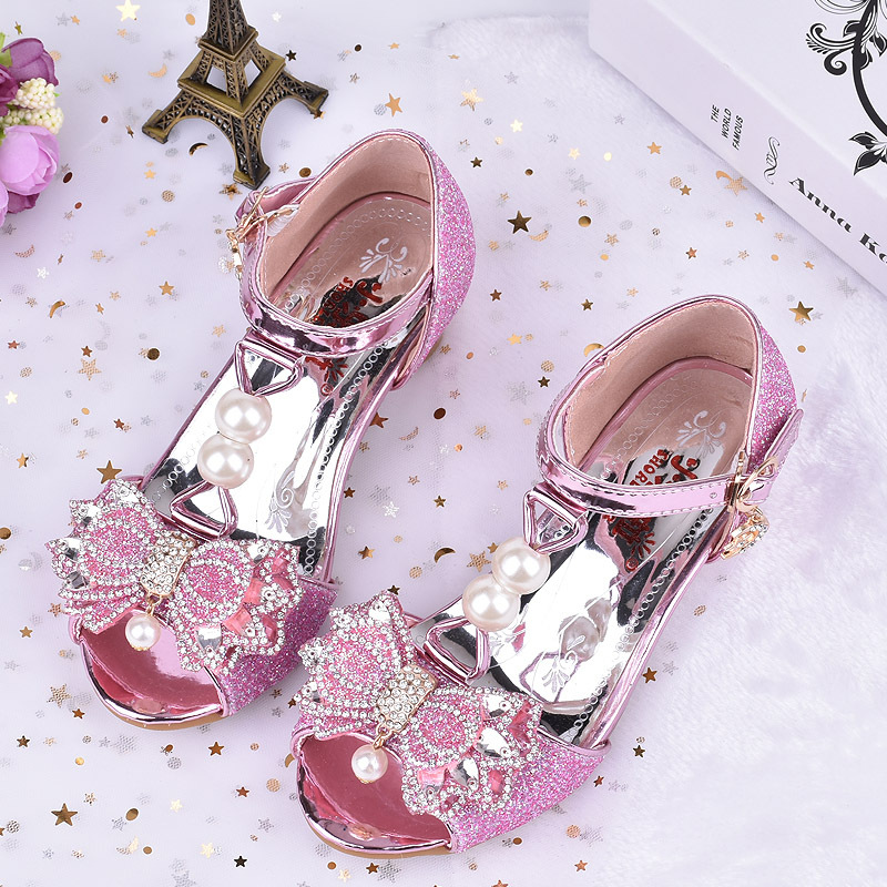 Big Girls Shoes Sandals Kids Girls Wedding Shoes High Heels Leather Shoes Girls Anna Elsa Sofia Princess Shoes Age 3 -12 Years elsa shoes сандалии