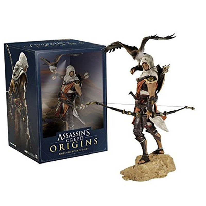 Elsadou 25cm Assassin's Creed Origins Bayek PVC Action Figure Collection Model Toy Doll assassin s creed origins action figure bayek aya pvc 230mm anime assassin s creed origins figurine model toys
