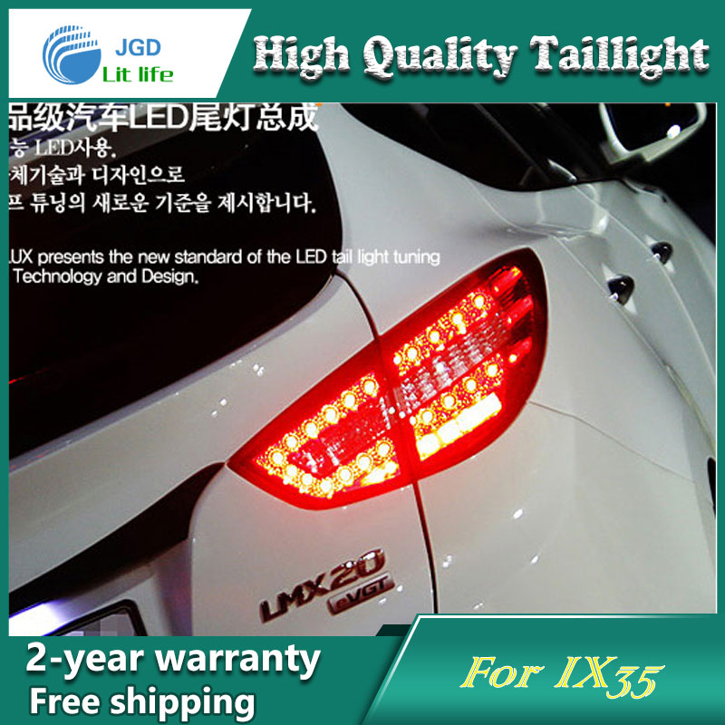 Car Styling Tail Lamp for Hyundai  IX35 2010-2013 Tail Lights LED Tail Light Rear Lamp LED DRL+Brake+Park+Signal Stop Lamp accent verna solaris for hyundai led tail lamp 2011 2013 year red color yz