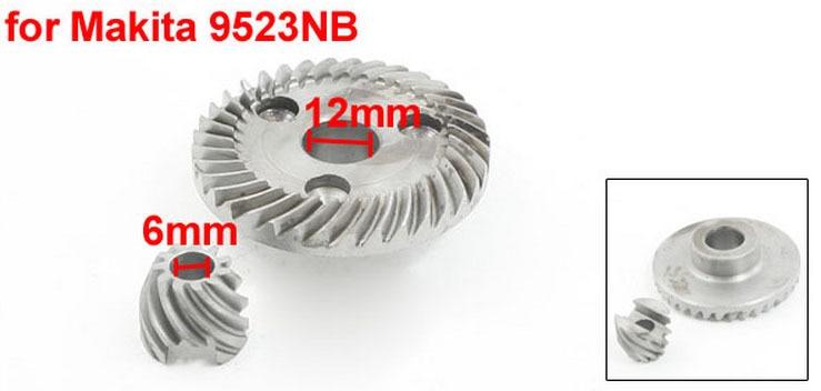 Power Tool Angle Grinder Helical Teeth Bevel Gear Set For Makita 9523NB
