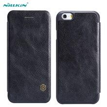 Для iPhone 6 S 6 плюс 5.5, Флип кожаный Защитный чехол Nillkin Qin Leather Case для Apple iPhone 6 S 4.7 плюс 5.5 дюймов