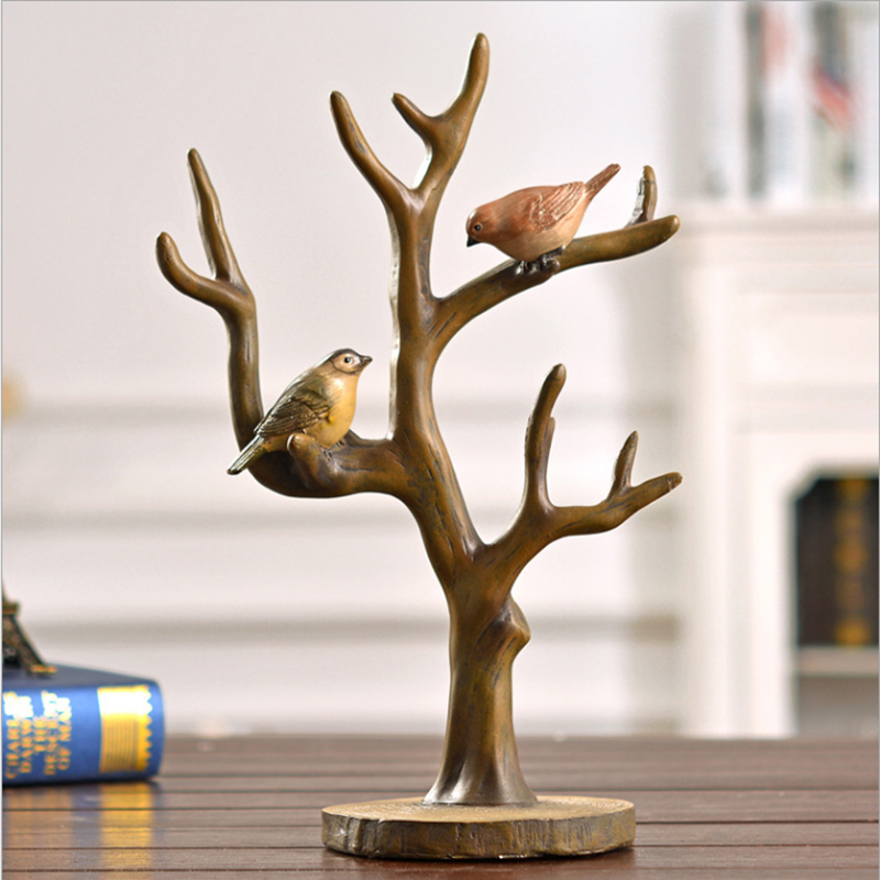Buy resin home decoration craft birds on for Bird decorations for home