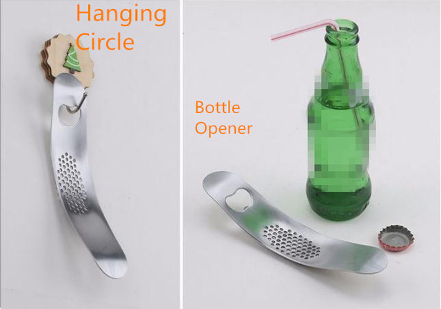Kitchen Gadgets Stainless Steel Garlic Press Crusher Cooking Tools Bottle Can Beer Opener 3