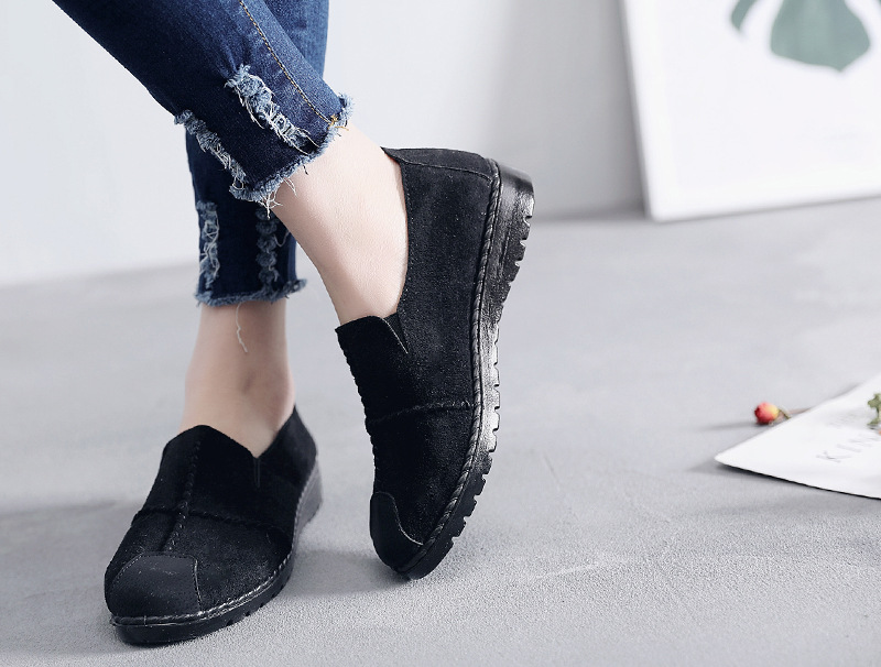 Plus Size Summer Women Flats Fashion Splice Flock Loafers Women Round Toe Slip On Leather Casual Shoes Moccasins New 2019 VT209 (24)
