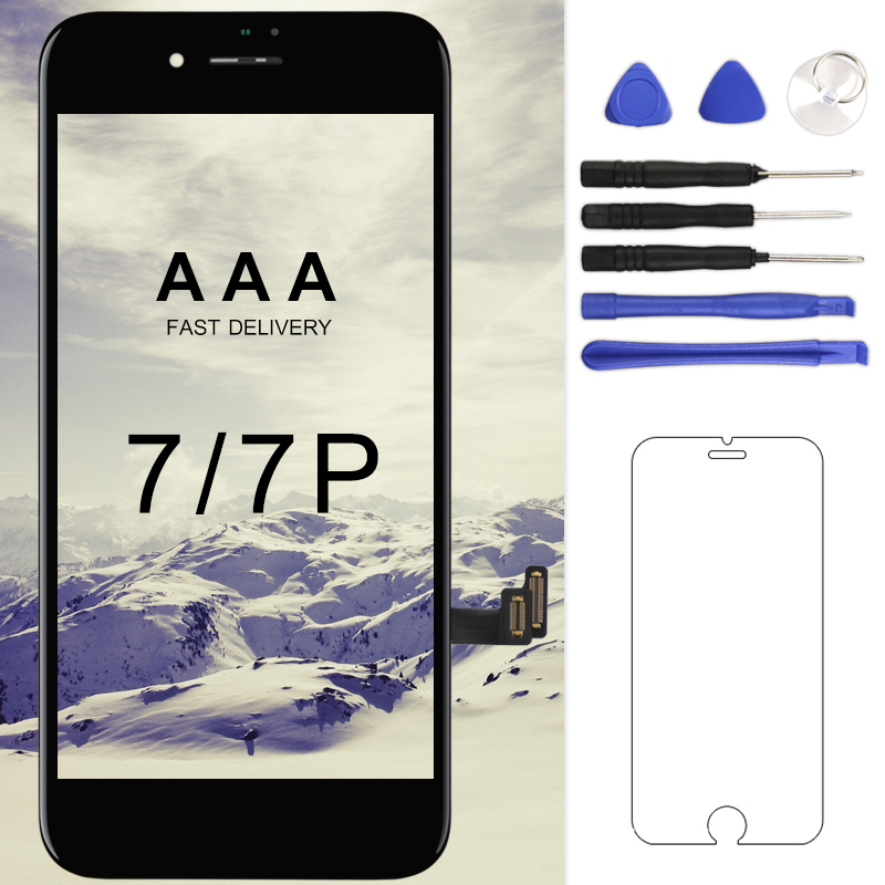 For iPhone 7 7PLUS LCD Grade AAA+++ With 3D Force Touch Screen Assembly Replacement Display No Dead Pixel Screen Free Shipping