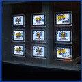 (Pack 10 unidades) de Doble Cara A4 LLEVÓ Escaparate Luz de bolsillo, Panel de Luz Led para Los Agentes Inmobiliarios, Centro Comercial, Propiedades