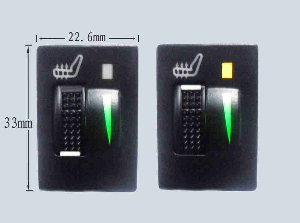 4PCS 2 asientos 3 Interruptor De Nivel De Fibra De Carbono Asiento Calentador Calefacción Cojín Almohadilla Kits