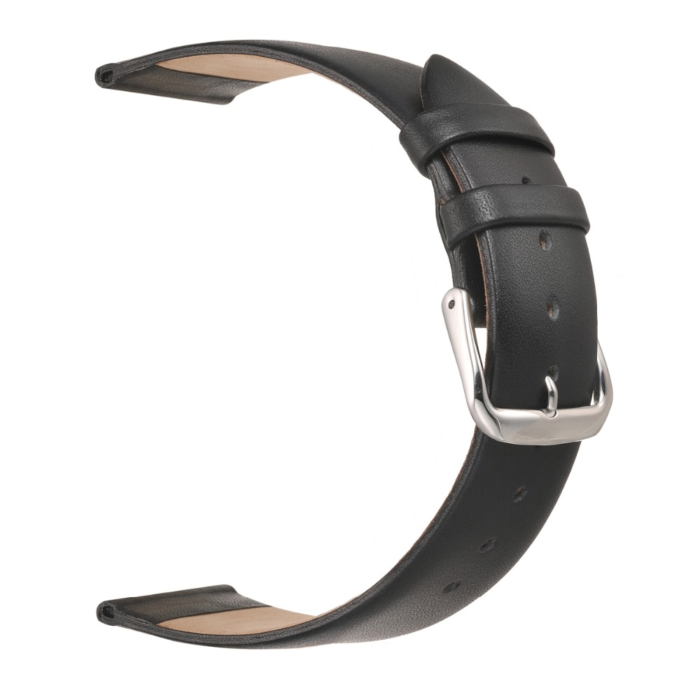 EACHE High Quality Ultrathin Smooth Softly Genuine Leather Watch Strap Band Silver&Gold 12 14 16 18 20 22 Men Womem Watchbands