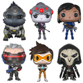 OW 10cm Funko pop Over watch action Figure Tracer Over Game watch Widow Maker D.VA MEI GENJI HANZO McCree Soldier 76 Bastion