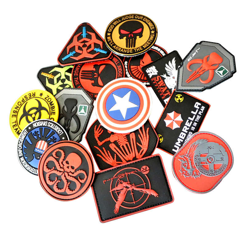 Hunting Accessories Badges Military Sticker Hook Armband Patches Badges Stickers Punisher Flag Embroidered Armband Appliques