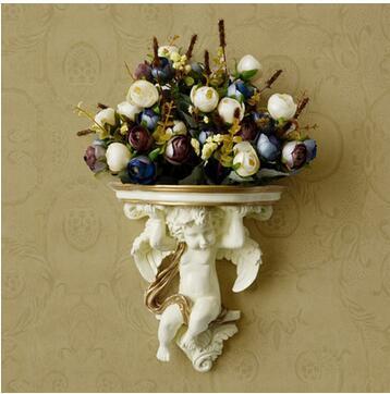Европейский стиль настенные цветочная композиция из цветочного искусства костюм модные бытовой орнамент маленький ангел стены оформлен в. а.